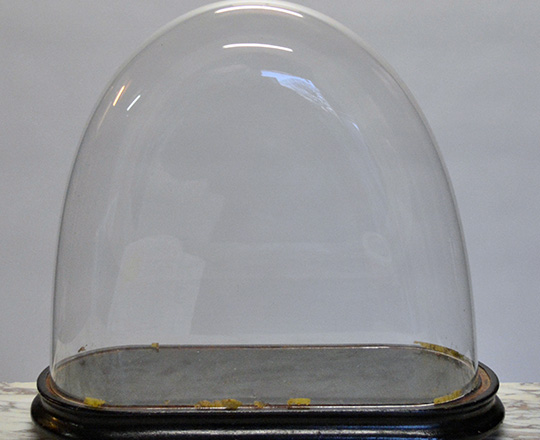 Lot 119: 19th cent glass dome. H42cm.