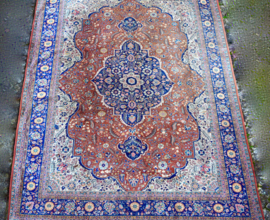 Lot 193: Large turn cent? Turkish carpet. 360 x 255cm.